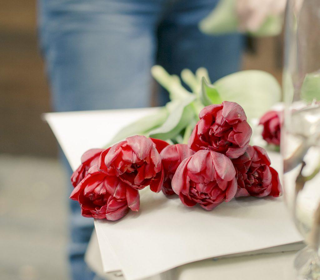 Flores frescas siempre en casa tulipanes