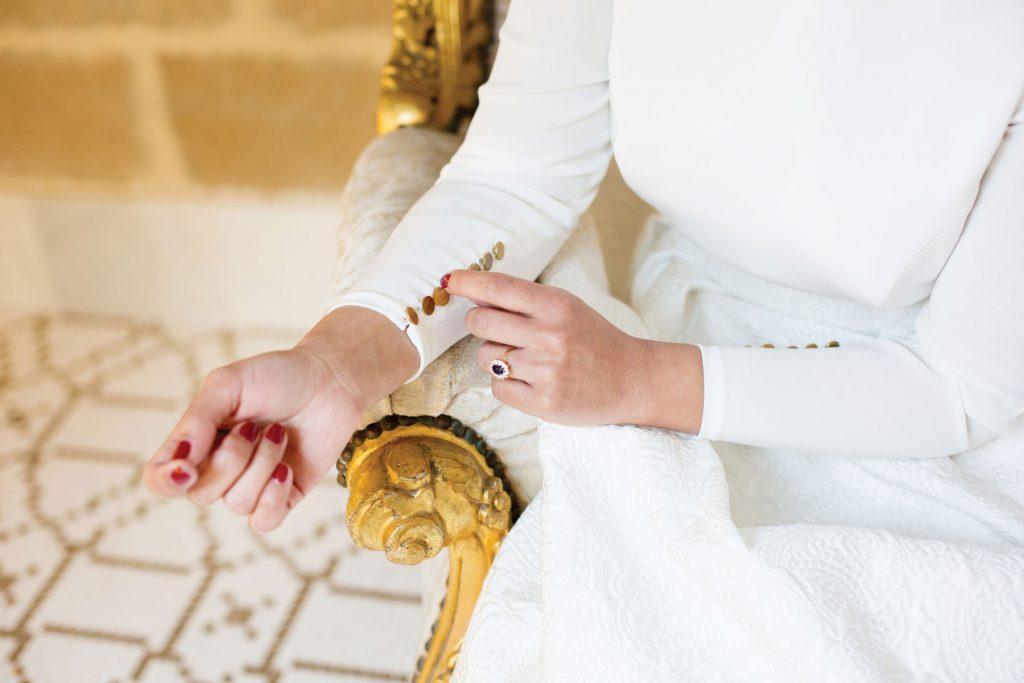 Novias elegantes Andalucía vestido novia Palacio Úbeda